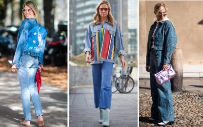Come portare look total denim in maniera ultra chic