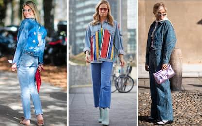 Come portare look total denim in maniera ultra chic