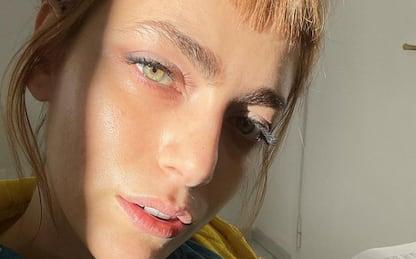 Miriam Leone con la frangia: nuovo look per l'ex Miss Italia