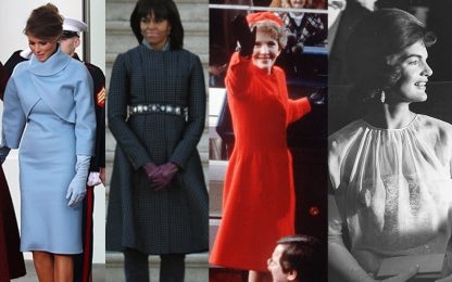 Da Melania Trump a Jackie Kennedy, i look più belli delle first ladies nel giorno dell'insediamento