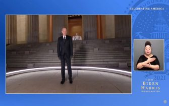 UNSPECIFIED - JANUARY 20: In this screengrab, Tom Hanks speaks during the Celebrating America Primetime Special on January 20, 2021. The livestream event hosted by Tom Hanks features remarks by president-elect Joe Biden and vice president-elect Kamala Harris and performances representing diverse American talent.  (Photo by Handout/Biden Inaugural Committee via Getty Images )