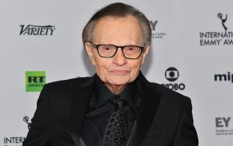 NEW YORK, NY - NOVEMBER 20:  Larry King attends the 45th International Emmy Awards at New York Hilton on November 20, 2017 in New York City.  (Photo by Dia Dipasupil/Getty Images)