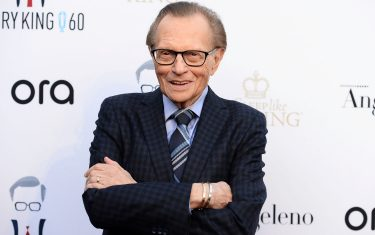 WEST HOLLYWOOD, CA - MAY 01:  Broadcast journalist Larry King arrives at his 60th Broadcasting Anniversary Event at HYDE Sunset: Kitchen + Cocktails on May 1, 2017 in West Hollywood, California.  (Photo by Amanda Edwards/WireImage)