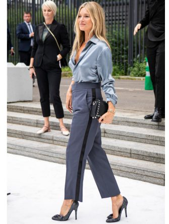 PARIS, FRANCE - JUNE 21: Kate Moss is seen during the Dior Homme Menswear Spring Summer 2020 show on June 21, 2019 in Paris, France. (Photo by Claudio Lavenia/Getty Images)
