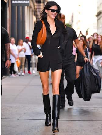 NEW YORK, NY - SEPTEMBER 10:  Kendall Jenner leaves Balenciaga store in Soho on September 10, 2019 in New York City.  (Photo by James Devaney/GC Images)
