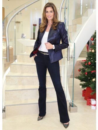 LONDON, ENGLAND - DECEMBER 10:  Cindy Crawford attends the Omega Oxford Street Store Opening on December 10, 2014 in London, England.  (Photo by Mike Marsland/WireImage for Omega)