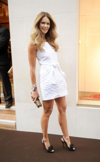 Elle MacPherson attends the opening of the new Louis Vuitton store on New Bond Street, London.   (Photo by Anthony Devlin/PA Images via Getty Images)