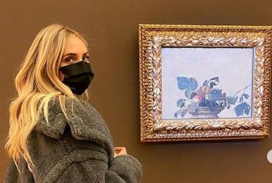 Chiara Ferragni in visita alla Pinacoteca Ambrosiana di Milano
