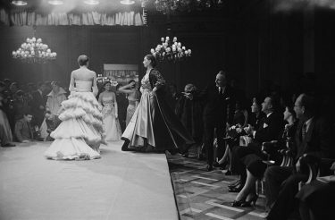 The Third Italian High Fashion Show in Florence, Italy, 1952. Original Publication : Picture Post - 5685 - Paris has a Rival - pub. 1st March 1952 (Photo by Kurt Hutton/Picture Post/Hulton Archive/Getty Images)