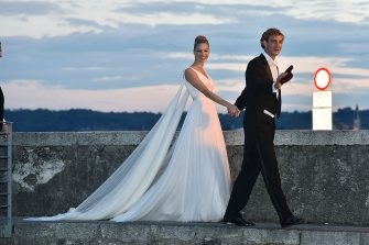 ANGERA, ITALY - AUGUST 01:  Pierre Casiraghi and Beatrice Borromeo are seen on August 1, 2015 in ANGERA, Italy.  (Photo by JacopoR/PierreS/GC Images)