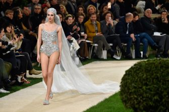 PARIS, FRANCE - JANUARY 22: Vittoria Ceretti walks the runway during the Chanel Spring Summer 2019 show as part of Paris Fashion Week on January 22, 2019 in Paris, France. (Photo by Peter White/Getty Images)
