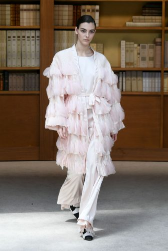 PARIS, FRANCE - JULY 02: Vittoria Ceretti walks the runway during the Chanel Haute Couture Fall/Winter 2019 2020 show as part of Paris Fashion Week on July 02, 2019 in Paris, France. (Photo by Rindoff/Charriau/Getty Images)
