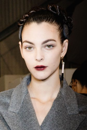 MILAN, ITALY - FEBRUARY 20: Top Model Vittoria Ceretti is seen backstage at the Fendi fashion show on February 20, 2020 in Milan, Italy. (Photo by Rosdiana Ciaravolo/Getty Images)