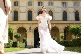 PARIS, FRANCE - JULY 04:  Vittoria Ceretti walks the runway during the Ulyana Sergeenko Haute Couture Fall/Winter 2017-2018 show as part of Haute Couture Paris Fashion Week on July 4, 2017 in Paris, France.  (Photo by Peter White/Getty Images)