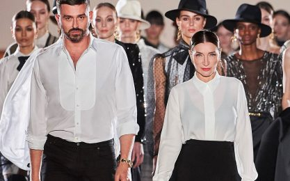 Milano Fashion Week 2021, la sfilata di Elisabetta Franchi. FOTO
