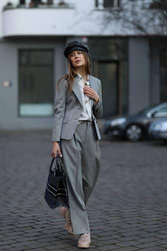 BERLIN, GERMANY - DECEMBER 08: Nicole Poturalski wearing complete Dior look on December 08, 2020 in Berlin, Germany. (Photo by Jeremy Moeller/Getty Images)