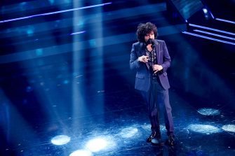SANREMO, ITALY - MARCH 05: Francesco Renga is seen on stage during the 71th Sanremo Music Festival 2021 at Teatro Ariston on March 05, 2021 in Sanremo, Italy. (Photo by Jacopo M. Raule/Getty Images)