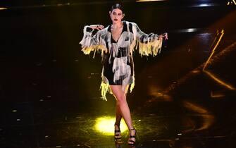 Gaia durante un'esibizione al Festival di Sanremo 2021