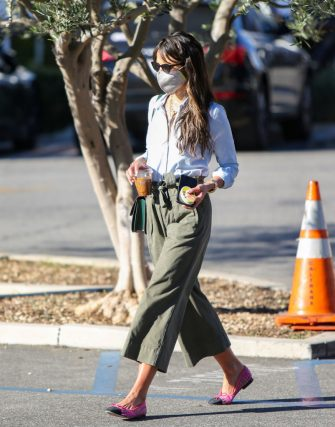 LOS ANGELES, CA - JANUARY 15: Jordana Brewster is seen on January 15, 2021 in Los Angeles, California.  (Photo by BG004/Bauer-Griffin/GC Images)