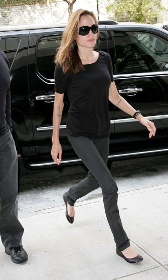 NEW YORK - SEPTEMBER 07:  Angelina Jolie Sighting in New York City on September 7th, 2007.  (Photo by James Devaney/WireImage)