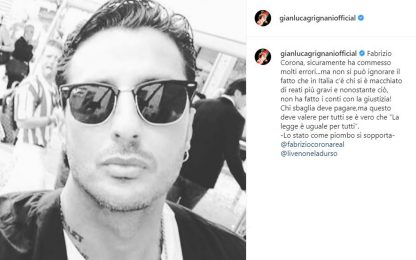 """Fabrizio Corona, in sua difesa anche Grignani: """"Stato come piombo"""""""