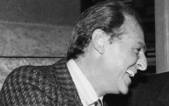 BERLINGUER ENRICO CON ARBORE RENZO TATO ANTONIO E BERLINGUER LETIZIA (ROMA - 1979-11-02, Marcellino Radogna / GIACOMINOFOTO) p.s. la foto e' utilizzabile nel rispetto del contesto in cui e' stata scattata, e senza intento diffamatorio del decoro delle persone rappresentate