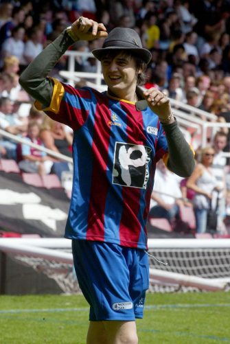 Pete Doherty during Music Industry Soccer Six - May 20, 2007 at West Ham United Football Club in London, Great Britain. (Photo by Danny Martindale/FilmMagic)