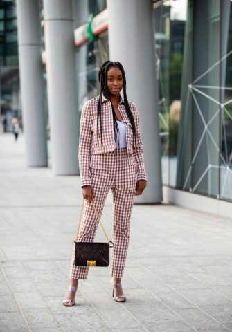 MILAN, ITALY - SEPTEMBER 18: A guest is seen outside the Alberta Ferretti show during Milan Fashion Week Spring/Summer 2020 on September 18, 2019 in Milan, Italy. (Photo by Christian Vierig/Getty Images)