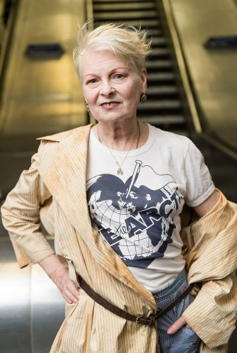 LONDON, ENGLAND - JULY 13:  Vivienne Westwood attends the Save The Arctic Collection launch at Waterloo Station on July 13, 2015 in London, England.  (Photo by Ian Gavan/Getty Images)