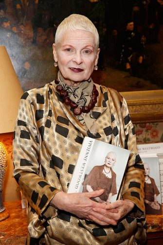 LONDON, ENGLAND - OCTOBER 07:  Vivienne Westwood at Mark's Club for the Vivienne Westwood Autobiography Launch on October 7, 2014 in London, England.  (Photo by David M. Benett/Getty Images for The Birley Group)