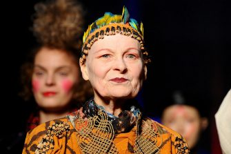 PARIS, FRANCE - MARCH 01:  Fashion designer Vivienne Westwood walks the runway during the Vivienne Westwood show as part of the Paris Fashion Week Womenswear Fall/Winter 2014-2015 on March 1, 2014 in Paris, France.  (Photo by Francois Durand/Getty Images)