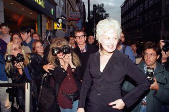 British fashion designer Vivienne Westwood arriving at the Naomi Campbell book launch. Charring Cross Road, London, 5th September 1994. (Photo by Steve King/Mirrorpix/Getty Images)