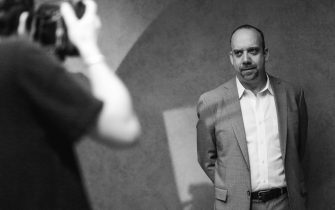 TORONTO, ON - SEPTEMBER 06:  (EDITOR'S NOTE: Image has been converted to black and white) Actor Paul Giamatti poses for a portrait with photographer Jeff Vespa during the 2013 Toronto International Film Festival on September 6, 2013 in Toronto, Canada.  (Photo by Mike Windle/Getty Images)