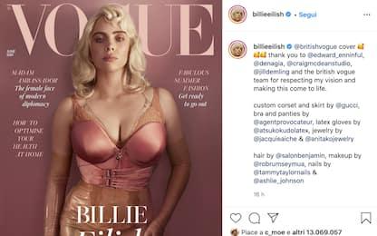 Billie Eilish posa con un nuovo look per la copertina di Vogue