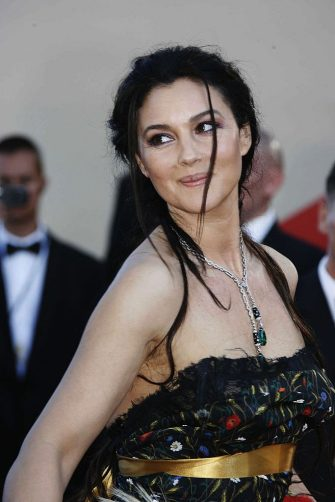 CANNES, FRANCE - MAY 24:  Actress Monica Bellucci arrives at the 'Marie Antoinette' premiere as part of the 59th International Cannes Film Festival on May 24, 2006 in Cannes, France.  (Photo by Michel Dufour/WireImage)