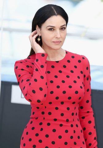 """CANNES, FRANCE - MAY 18:  Monica Bellucci attends the """"La Meraviglie"""" photocall during the 67th Annual Cannes Film Festival on May 18, 2014 in Cannes, France.  (Photo by Andreas Rentz/Getty Images)"""