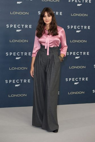 """LONDON, ENGLAND - OCTOBER 22:  Monica Bellucci attends a photocall for """"Spectre"""" at Corinthia Hotel London on October 22, 2015 in London, England.  (Photo by Mike Marsland/WireImage)"""