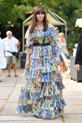 VENICE, ITALY - AUGUST 31: Monica Bellucci is seen arriving at the 76th Venice Film Festival on August 31, 2019 in Venice, Italy. (Photo by Jacopo Raule/GC Images,)
