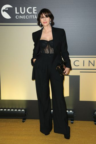 ROME, ITALY - OCTOBER 08: Monica Bellucci attends the golden carpet for the Academy of Motion Picture, Arts and Sciences event at Palazzo Barberini on October 08, 2019 in Rome, Italy. (Photo by Ernesto Ruscio/Getty Images)