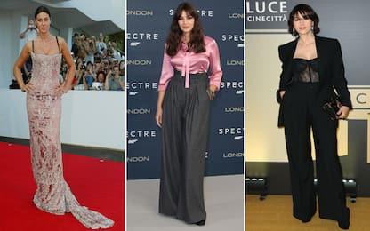 Monica Bellucci ieri e oggi, tutti i cambi di look dell'attrice. FOTO