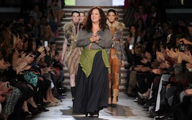 MILAN, ITALY - FEBRUARY 26:  Designer Angela Missoni acknowledges the applause after the Missoni Autumn/Winter 2012/2013 fashion show as part of Milan Womenswear Fashion Week on February 26, 2012 in Milan, Italy.  (Photo by Tullio M. Puglia/Getty Images)