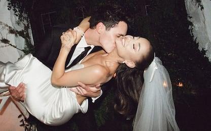 Ariana Grande ha condiviso su Instagram le foto del matrimonio