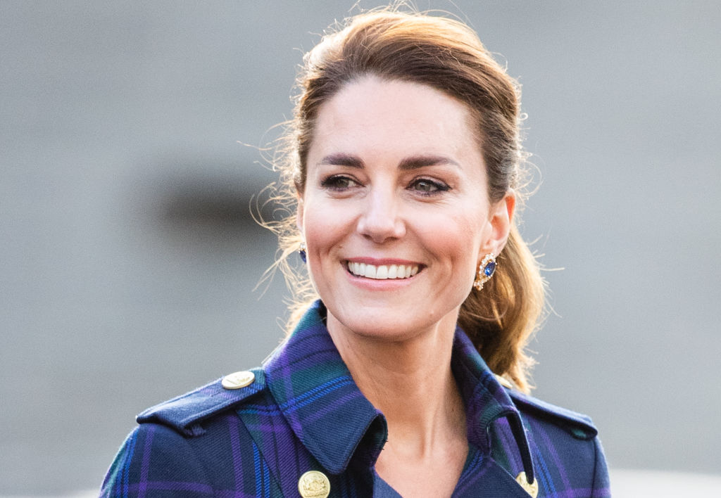 EDINBURH, SCOTLAND - MAY 26: Catherine, Duchess of Cambridge arrives to host NHS Charities Together and NHS staff at a unique drive-in cinema to watch a special screening of Disneyâ  s Cruella at the Palace of Holyroodhouse on day six of their week-long visit to Scotland on May 26, 2021 in Edinburgh, Scotland. (Photo by Pool/Samir Hussein/WireImage)