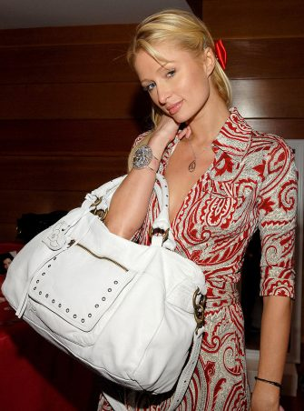 Paris Hilton during Kari Feinsteins Style Lounge Presented by Budweiser Select - Day 1 in Los Angeles, California, United States. (Photo by J.Sciulli/WireImage for Kari Feinstein PR)