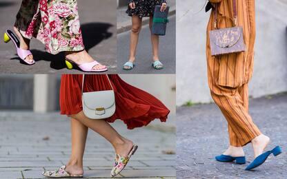 Moda donna, i sandali modello ciabatta da indossare in estate. FOTO