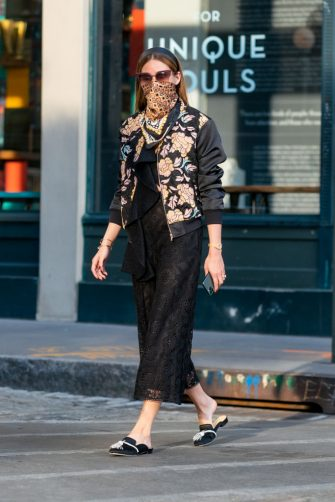 NEW YORK, NEW YORK - MAY 16: Olivia Palermo is seen in Brooklyn on May 16, 2020 in New York City. (Photo by Gotham/GC Images)