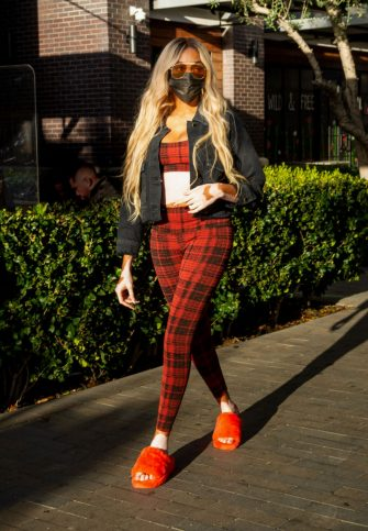 LOS ANGELES, CALIFORNIA - MARCH 11: Model and spokesperson Winnie Harlow is seen at Topanga Village on March 11, 2021 in Los Angeles, California. (Photo by John Sciulli/WireImage)