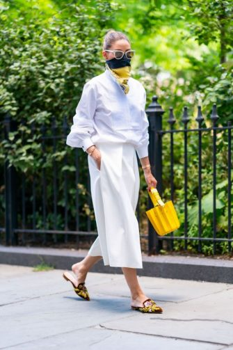 NEW YORK, NEW YORK - JUNE 25: Olivia Palermo is seen in Brooklyn on June 25, 2020 in New York City. (Photo by Gotham/GC Images)