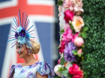 A racegoer arriving ahead of day two of Royal Ascot at Ascot Racecourse. Picture date: Wednesday June 16, 2021. (Photo by David Davies/PA Images via Getty Images)