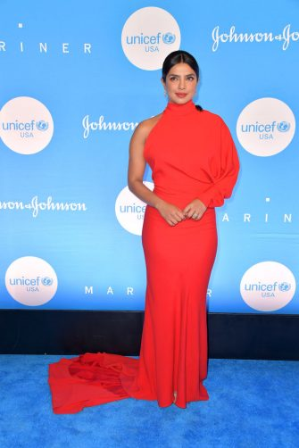 NEW YORK, NEW YORK - DECEMBER 03: Priyanka Chopra Jonas at the 15th Annual UNICEF Snowflake Ball 2019 at 60 Wall Street Atrium on December 03, 2019 in New York City. (Photo by Michael Loccisano/Getty Images for UNICEF USA)